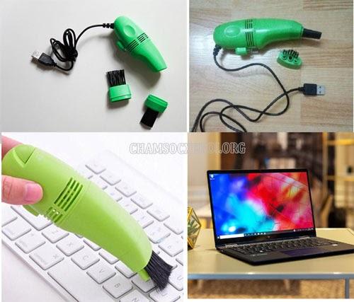 Hướng dẫn sử dụng thiết bị hút bụi cho laptop
