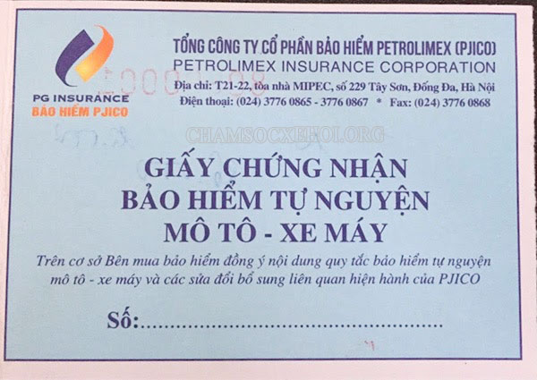 bảo hiểm tự nguyện xe máy