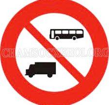 biển cấm xe tải xe khách
