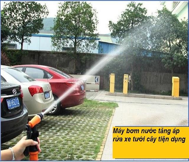 máy bơm tăng áp rửa xe