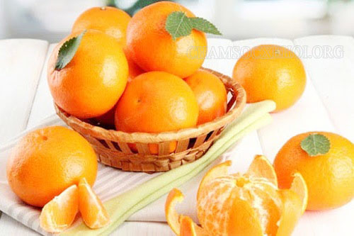 say xe nên ăn vỏ cam