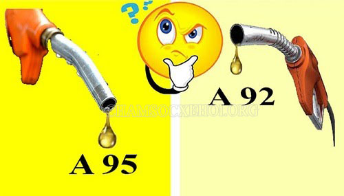 xăng a 95 và xăng a 92