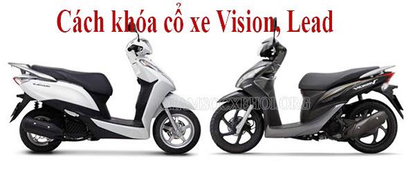 cách khóa cổ xe vision