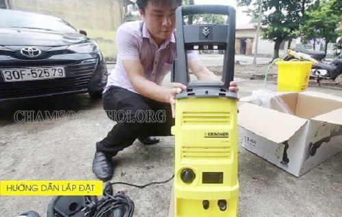 lắp đặt máy rửa xe karcher
