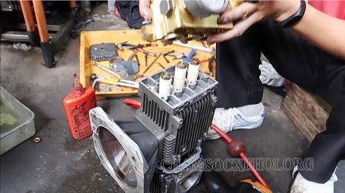 khắc phục máy rửa xe gia đình không lên áp