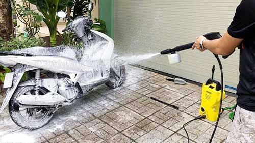tìm hiểu máy rửa xe không lên áp