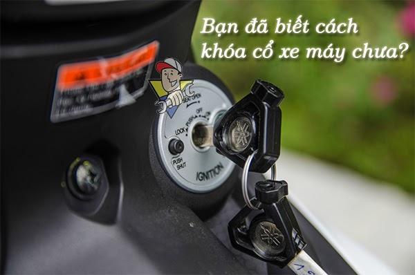 cách khóa cổ xe máy