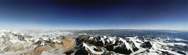 đường chân trời trên núi