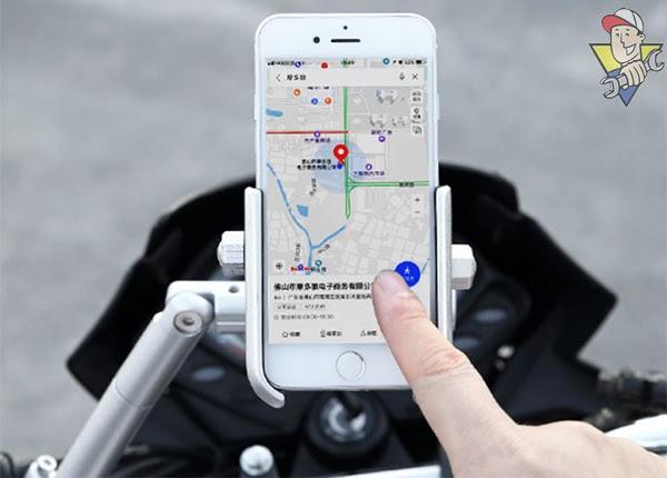 giá đỡ điện thoại trên xe máy
