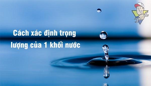 1 khối nước nặng bao nhiêu lít