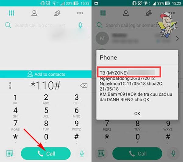 cách để biết số điện thoại đang dùng