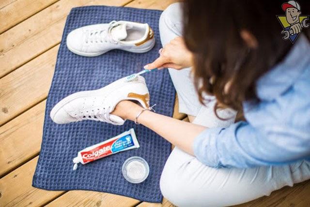 tẩy trắng giày hiệu quả