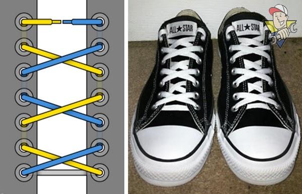 cách thắt dây giầy Converse 2020
