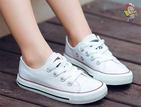 cách thắt dây giày Converse