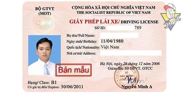 không có giấy phép lái xe con