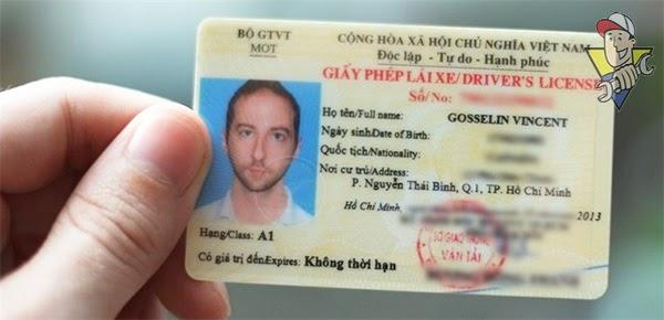 mấy giấy phép lái xe ô tô