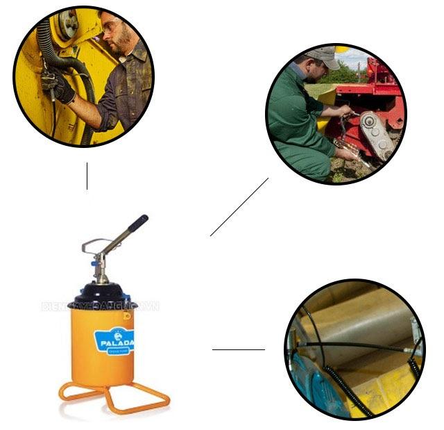 nguyên lý làm việc máy bơm mỡ bằng tay
