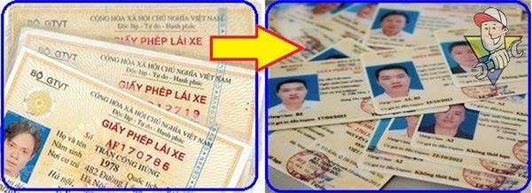 thủ tục đổi giấy phép lái xe A1