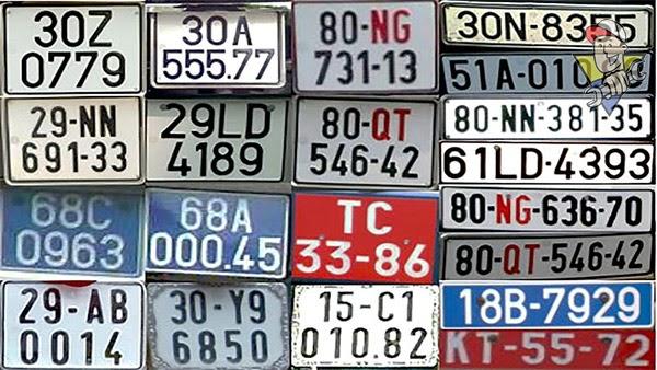 ý nghĩa biển số xe 5 số 2020
