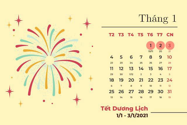 ngày tốt tháng 1 năm 2021