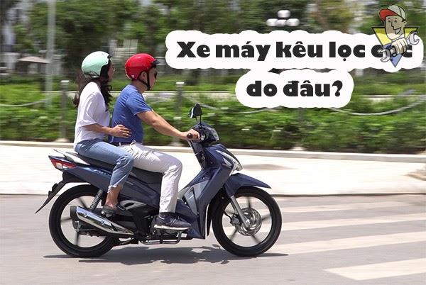 xe máy kêu lọc cọc
