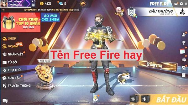 tên Free Fire tên quân đoàn ff
