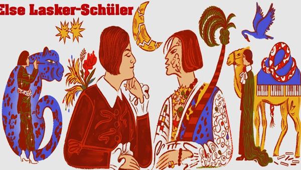 Google Doodle vinh danh vị nữ thi sĩ vĩ đại Else Lasker Schuler