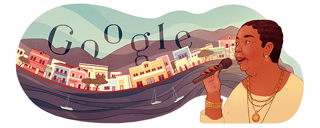 Cesária Évora được Google Doodle vinh danh vừa qua