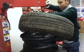hướng dẫn sử dụng máy ra vào lốp