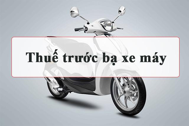 bảng giá thuế trước bạ xe máy 2020