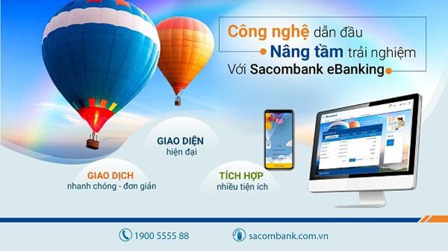 Ngân hàng Sacombank luôn cải tiến công nghệ đem đến trải nghiệm tốt nhất cho khách hàng