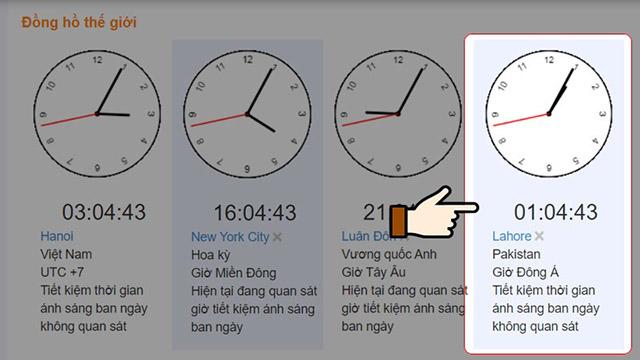 phương pháp tính múi giờ