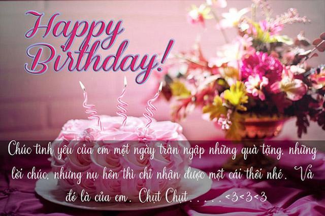 Lời chúc mừng sinh nhật người yêu ngọt ngào