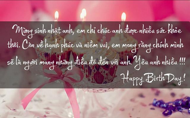 Chúc mừng sinh nhật người yêu hay nhất