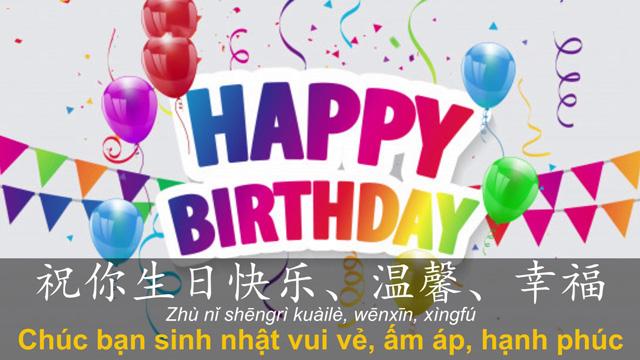 Top lời chúc mừng sinh nhật tiếng Trung ngọt ngào và ý nghĩa