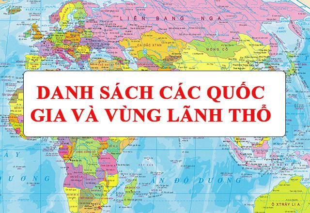 các nước trên thế giới